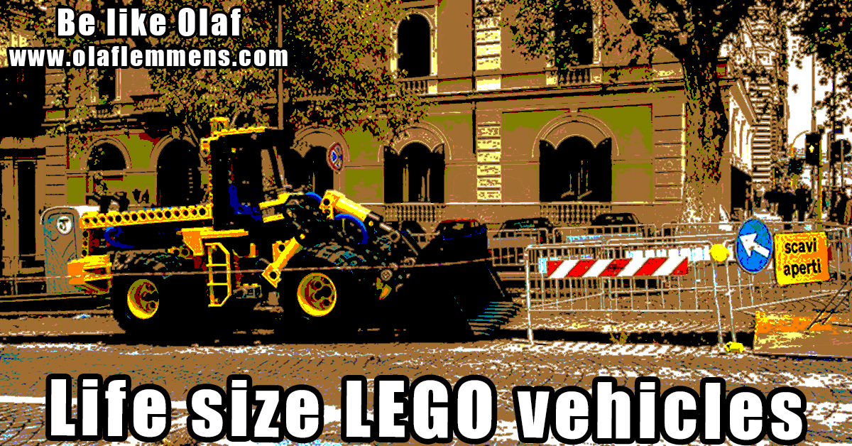 life size lego vehicles